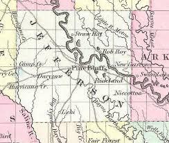 map of arkansas 1855 map of arkansas jefferson county arkansas
