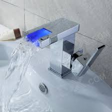 Led Bathroom Faucet by Buy Led Color Changing Waterfall Chrome Bathroom Faucet Rgb Led