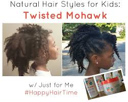 natural hair style for kids twisted mohawk youtube