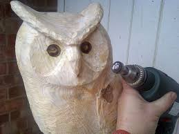 chainsaw carved sculptures gallery bears fawns hares owls foxes