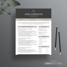 Resumes Templates For Word Resume Template And Free Cover Letter 3 Page Modern Cv Template