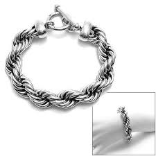 metal rope bracelet images Stunning sterling silver wide braided twist rope bracelet jpg