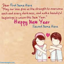 name on new year wishes picture