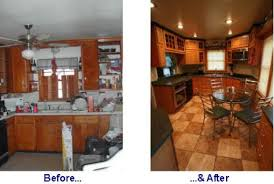 Kitchen Remodel Ideas For Mobile Homes Small Kitchen Remodels Before After Kitchen Remodel Before And