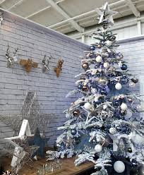 urban christmas tree design with a blue grey and white colour