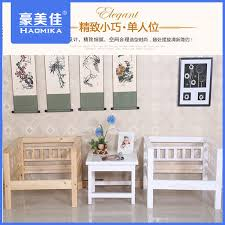 Chinese Living Room Living Room Wood Sofa Solid Wood Sofa Three White Pine Furniture