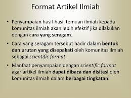 artikel format paper ilmiah struktur artikel ilmiah bagian i ppt download