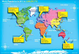 Seven Continents Map Continents Of The World