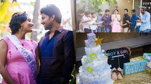 actor nani u0027s wife anjana baby shower function photos youtube
