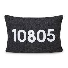 custom zip code lumbar pillow custom pillow zip code