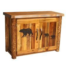 4 Door Cabinet Barnwood 2 Door Cabinet With Carving