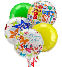 mylar balloons thinking of you balloon bouquet 5 mylar balloons brighten