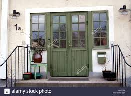 House Front Door Front Door Of A Swedish Country House Stock Photo Royalty Free