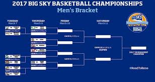 big sky basketball tournament 2017 bracket schedule and scores