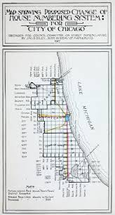 Chicago Street Numbers Map by Vvd Blk