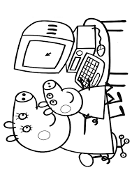 peppa pig coloring pages learn computer coloringstar