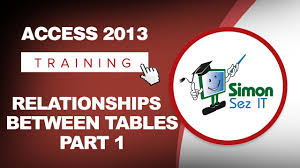microsoft access 2013 tutorial relationships between tables