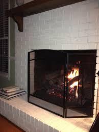 Laminate Brick Flooring Painted Brick Fireplace With White Brick Stone Fireplace Having