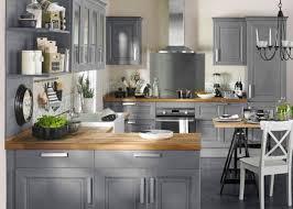 cuisine plan de travail bois cuisine grise plan de travail bois collection et cuisine images