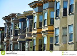 san francisco row houses royalty free stock photography image