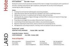 Sample Resume For Hotel Manager by Microsoft Word Resume Template U2013 99 Free Samples Examples