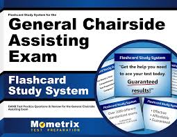 flashcard study system for the general chairside assisting exam