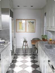 Corridor Galley Kitchen Kitchen Incredible Design Ideas Using Rectangular Brown Wooden
