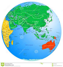 The World Map With Continents And Oceans by Illustration World Map And The Continents Of Planet Earth Stock
