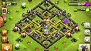 layout coc town hall level 7 trophy hunting polar empire