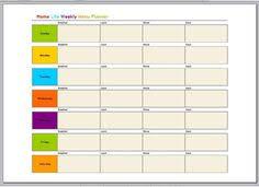 naturally creative mama freebie weekly menu planner download