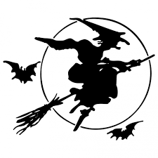 witch on broomstick silhouette free stock photo public domain
