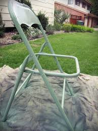 Folding Metal Outdoor Chairs Smartgirlstyle Folding Chair Makeover