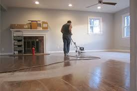 before staining hardwood floors clean with