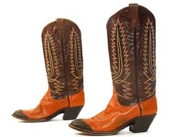 womens brown cowboy boots size 9 etsy your place to buy and sell all things handmade