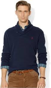 polo ralph lauren french rib shawl sweater crafted from sueded