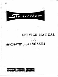sony tc 500 a