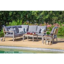 covered outdoor seating corvus jasmine heavy duty 6 piece outdoor deep seating set with