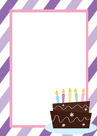 card blank birthday card template word
