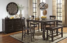 counter high dining room sets gerlane counter height dining set w bench casual dining sets