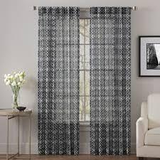 Black Sheer Curtains Buy Black Sheer Curtains From Bed Bath Beyond