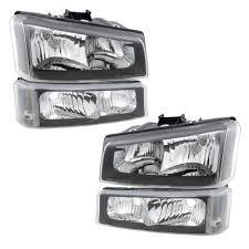 2005 chevy silverado 2500hd tail lights chevy silverado 2500hd 2003 2006 black clear headlights and bumper