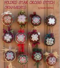 no sew folded quilted flower christmas ornament pdf pattern with