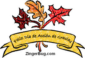 feliz dia de accion de gracias glitter graphic greeting comment