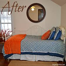 inspired wives blue and orange guest bedroom part 1 haammss