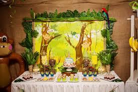 jungle theme birthday party jungle kids birthday party table decor party birthday ideas