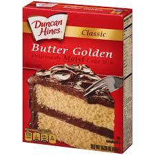 duncan hines classic butter golden cake mix 15 25 oz walmart com