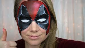 deadpool makeup and face paint youtube