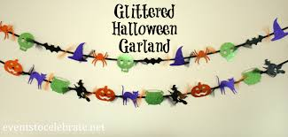 halloween garland archives events to celebrate glittered
