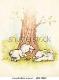 cute little bunny pink balloon on stock illustration 75634048