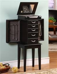 Tall Jewelry Armoire Chasingtreasure Com Jewelry Boxes Blog Floor Standing Jewelry